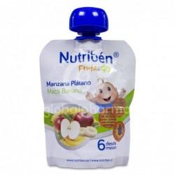 Nutribén Fruta&GO Manzana y Plátano, 90 g