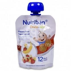 Nutribén Fruta & GO! Plátano, Fresa y Yogurt Natural, 90 g