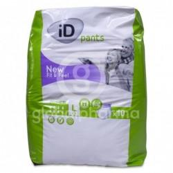 iD Pants Fit&Feel Talla L Absorción Super, 10 Unidades