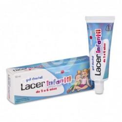 Lacer Infantil Gel Dental Sabor Fresa, 50 ml