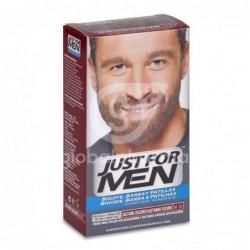 Just For Men Bigote Y Barba Gel Colorante 30 Cc Castaño Oscuro