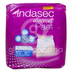 Indasec Discreet Pant Plus Talla Grande, 12 Unidades