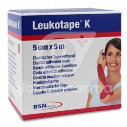 Leukotape K Cinta Autoadhesiva Elástica 5cm x 5m, Color Rojo