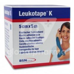 Leukotape K Cinta Autoadhesiva Elástica 5cm x 5m, Color Azul