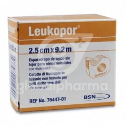 Leukopor Esparadrapo Con Dispensador 9,2 m x 2,5 cm, 1 Unidad