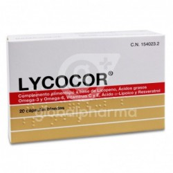 Lycocor, 20 Cápsulas Blandas