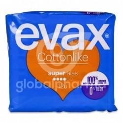 Compresa Evax Cottonlike Super con Alas, 12 Compresas