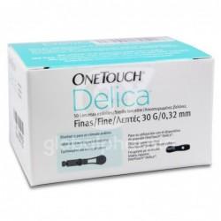 OneTouch Delica Lancetas Finas 30 g, 50 Unidades