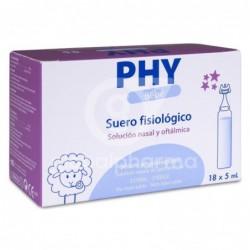 PHY Bebé Suero Fisiológico 5 ml, 18 Monodosis