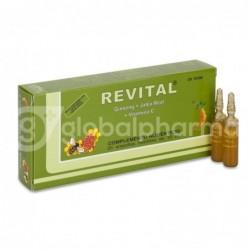 Revital Ginseng + Jalea Real + VitaminaC, 20 Ampollas Bebibles