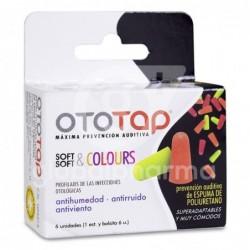 Ototap Tapones Espuma Poliuretano de Colores, 6 Unidades