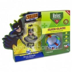 Relec Click-Clack Pulsera Antimosquitos Batman + 2 Recambios, 1 Unidad