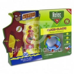 Relec Click-Clack Pulsera Antimosquitos Flash + 2 Recambios, 1 Unidad