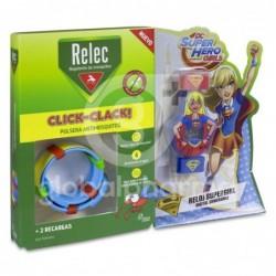Relec Click-Clack Pulsera Antimosquitos Supergirl + 2 Recambios, 1...