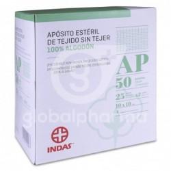 Indas Apósito Estéril Tejido Sin Tejer 100% Algodón 10x10cm, 50...