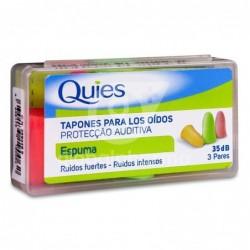 Quies Tapones de Espuma, 6 Unidades