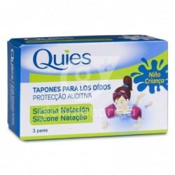 Quies Tapones Oídos Silicona Natación Infantil, 3 Pares