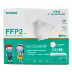 Mascarilla Infantil FFP2 10 ud