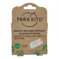 ParaKito Pastilla Recambio Repelente Mosquitos, 2 Unidades